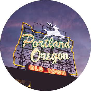 Portland Oregon Old Town Neon Sign